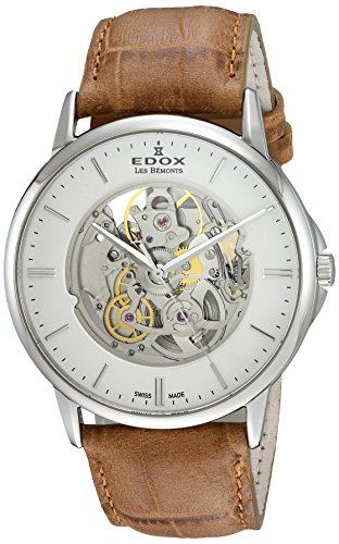 Edox Men's Analog Swiss-Automatic Watch with Leather Strap 85300 3 AIN