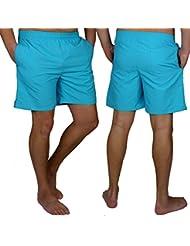 Herren Badehose Schwimmhose kurze Hose Uni Badeshorts Shorts Neon Basic Farben