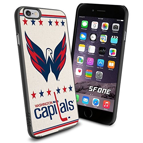Washington Capitals NHL, #1368 Hockey iPhone 6 (4.7) Case Protection Scratch Proof Soft Case Cover Protector (Shell Soft Hockey)