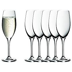 WMF easy Plus Champagner-/ Sektgläser-Set, 6-teilig, 250ml, Kristallglas, spülmaschinenfest, transparent