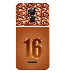 PrintDhaba Numerology Number 16 D-3649 Back Case Cover for COOLPAD NOTE 3 LITE (Multi-Coloured)