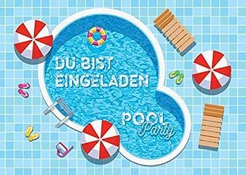 Einladung kindergeburtstag schwimmbad designideen for Garten pool party