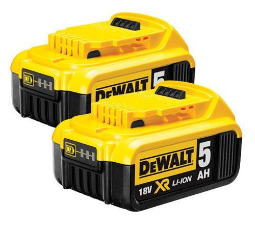 DEWALT DCB184 18 V XR 5ah Slide Battery Doppelpack, 18 V