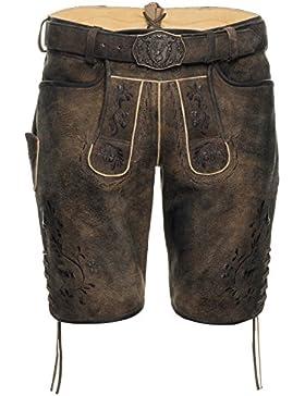 Michaelax-Fashion-Trade Spieth & Wensky - Herren Trachten Lederhose mit Gürtel, Fimo (290665-0413)