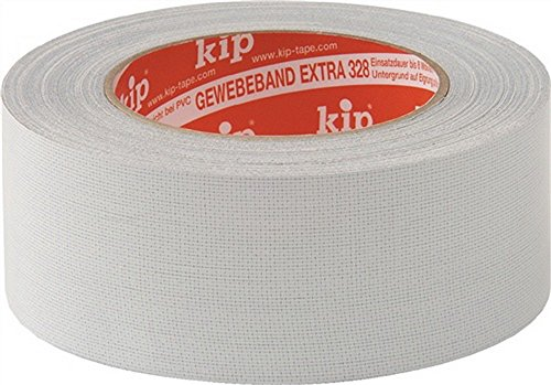 Gewebeklebeband Länge 25m Breite 19mm grau, 12 Stück