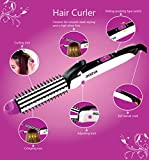 Rozia HR7330 3 in 1 Hair Curler with Hair Crimper and Hair Straightener