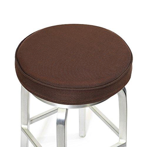 Barhocker Durchmesser (baibu Barhocker Sitzkissen, Memory Foam Kissenbezug, Runde Stuhlkissen mit Anti-Rutsch-Unterstützung und Gummiband, Braun, 30 CM)