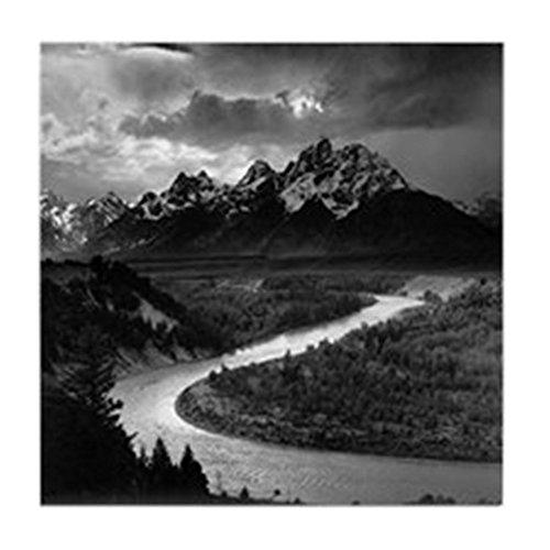 CafePress - Ansel Adams The Tetons and The Snake River Tile Co - Fliesenuntersetzer, Getränke-Untersetzer, Kleiner Untersetzer -