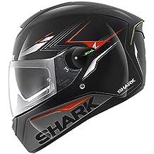 Shark SKWAL Matador Casco De Moto - Negro Rojo Plateado, Large