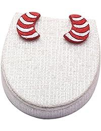 Terramart_ Handmade Terracotta Earring Set Jewellery For Women / Girls ( Red & Silver )