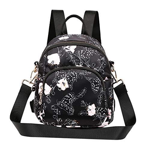 Leopard Fashion Tasche (Fashion Damen Rucksack Leopard Drucken Cabrio Reißverschluss Tasche Umhängetasche Einfarbig Outdoor Multifunction Große Kapazität Schultasche LEEDY)