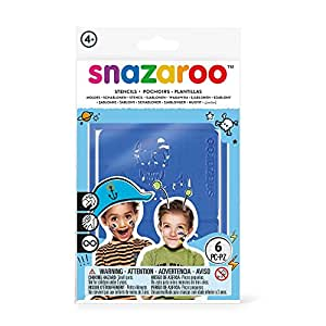 Snazaroo 1198011 Face Paint Stencils, Boys Adventure - Set of 6