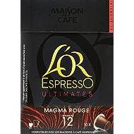 L'OR ESPRESSO Magma Rouge 10 capsules compatibles avec les machines à café Nespresso - Lot de 4 (40 capsules)