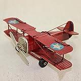 LIJUN Kinderspielzeug Retro-handgefertigte Eisenflugzeug-Raum Dekoration Kreatives Zuhause statische Modelldekoration,Red