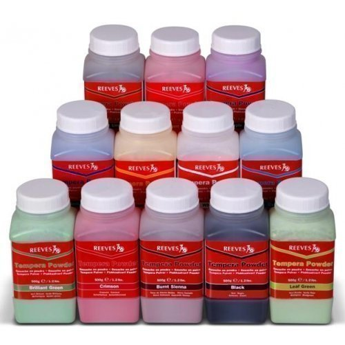 reeves-tempera-powder-paint-500g-tub-brilliant-green