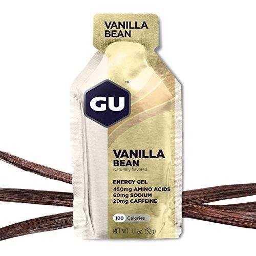 GU Energy Gel, Vanilla Bean (Vanille), Box mit 24 x 32 g