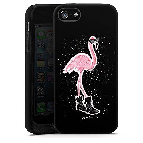 Apple iPhone X Silikon Hülle Case Schutzhülle Flamingo Sonnenbrille Schuhe Tough Case matt
