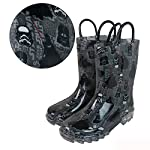 Star Wars Dark Side Boys Light-Up Waterproof Rain Boots