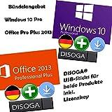 Windows 10 Professional + Microsoft Office 2013 Professional Plus Lizenzkeys mit DISOGA® USB-Stick