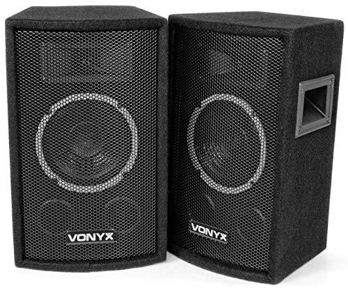 Vonyx Paire d'Enceintes SL6 PA Speakerbox 6 pouces 150 Watts, Enceintes Passives, Public Address, Sonorisation, Messages public, Utilisation Domestique, 2 Enceintes Professionnelles
