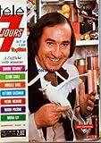 COUVERTURE ISOLEE DE TELE 7 JOURS [No 931] du 01/04/1978 - JOSE GARCIMORE - S. SIGNORET - CLARK GABLE - MOREILLE DARC - P. RICHARD - MARIA PACOME - MIRNA LOY - V. CASSMAN
