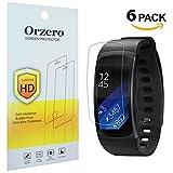 [6confezione] Newzerol per Samsung Gear FIT2Pro schermo (non vetro), ad alta definizione anti-graffio e anti-impronte pellicola protettiva per Samsun Gear Fit 2Pro [Garanzia di sostituzione a vita] -clear