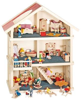 Goki 51957 - Casa de muñecas (3 pisos) de Goki
