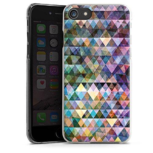 Apple iPhone X Silikon Hülle Case Schutzhülle Muster Farben Dreiecke Hard Case transparent