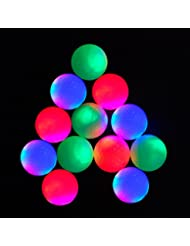 12-piece Flashing Golf Balls Light Golf Balls Super Bright Night Flyer Glowing LED Golf Ball (Mixed colors) by ACEVER