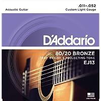 D'Addario EJ13 80/20 Bronze Custom Light  (.011-.052) Acoustic Guitar Strings