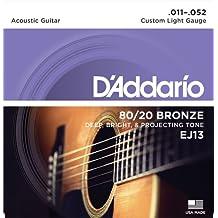D'Addario EJ13 - Juego de cuerdas para guitarra acústica de bronce, 011' - 052'