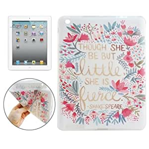 Crazy4Gadget THOUGH SHE BE LITTLE BUT SHE IS FIERCE Pattern TPU Protective Case for iPad 4 / New iPad (iPad 3) / iPad 2