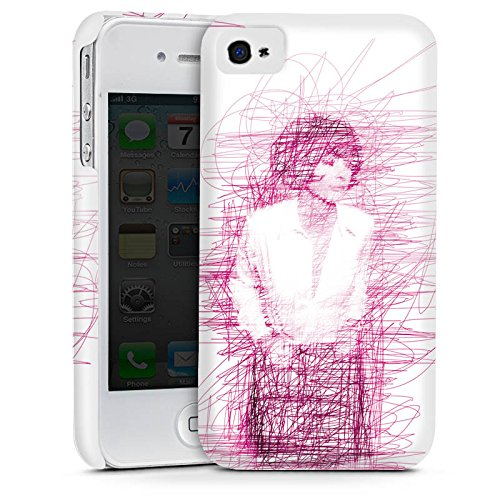 Apple iPhone 5 Housse Étui Silicone Coque Protection Fille Dessin Gribouillage Cas Premium mat