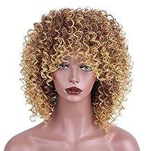 RY@ Mezcla de pelo marrón y rubio Fibra de pelo sintético de alta sintética pelo