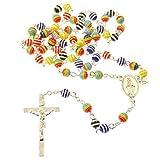 Rosari collana con 6mm multicolore arcobaleno perline Cattolica regalo