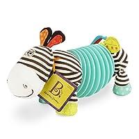 B. toys - B. Snugglies Squeezy Zeeby - Musical Accordion Zebra Plush - Sensory Toys - 100% Non-Toxic and BPA-Free
