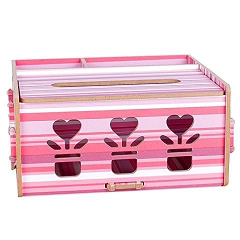 Anguang Art und Weiseschwarzes Festes hölzernes Tissue-Papierkasten das Papierkastenhaushalt Gewebekästen Pumpt Red