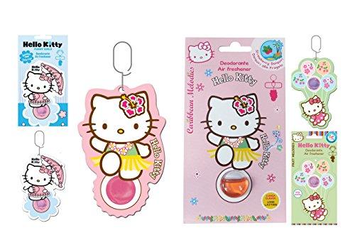 Hello Kitty Lufterfrischer (Hello Kitty Kit 3 Lufterfrischer Air freshener (Kirsche, Fragola, Zuckerwatte))