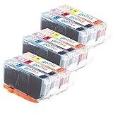 Go Inks c-521cmy-9Kompatible Druckerpatronen für Drucker multi-pack Tricolor (gelb, magenta, cyan)