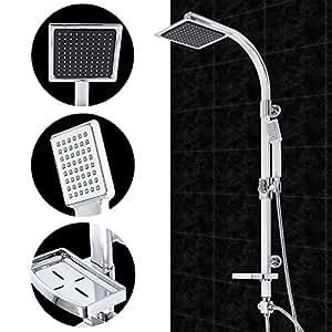 aquamarin dschpl05 02 colonne de douche panneau de douche mural avec pommeau de douche et. Black Bedroom Furniture Sets. Home Design Ideas