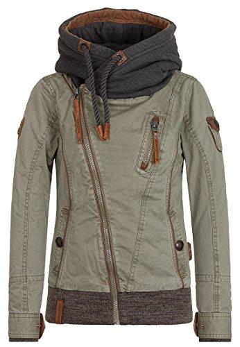 Naketano Female Jacket Walk the Line Desert Green, S