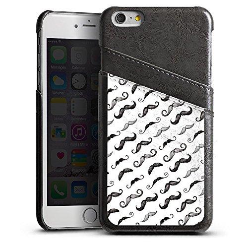 Apple iPhone 5s Housse Étui Protection Coque Noir et blanc Motif Motif Étui en cuir gris