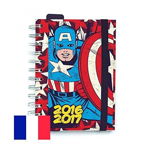 agenda-scolaire-capitaine-america-bande-elastique-un-jour-par-page-franaais-2016-2017