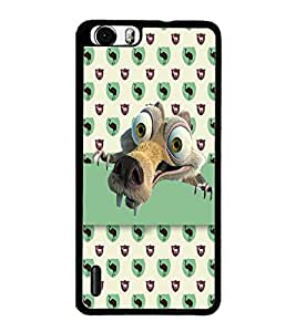 PrintDhaba Scrat D-2985 Back Case Cover for HUAWEI HONOR 6 (Multi-Coloured)