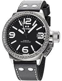 TW Steel Damen-Armbanduhr XL Canteen Style Analog Quarz Leder TW-37
