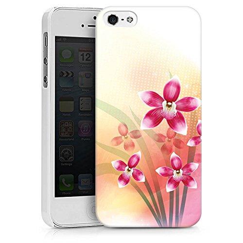 Apple iPhone X Silikon Hülle Case Schutzhülle Orchidee Schmetterling Blume Hard Case weiß
