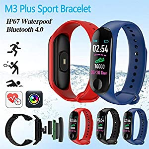 Smartwatch M3 Plus Heart Rate Fitness Tracker SmartBand OLED Smart Wrist Sports Pulsera Pantalla Colorida 5