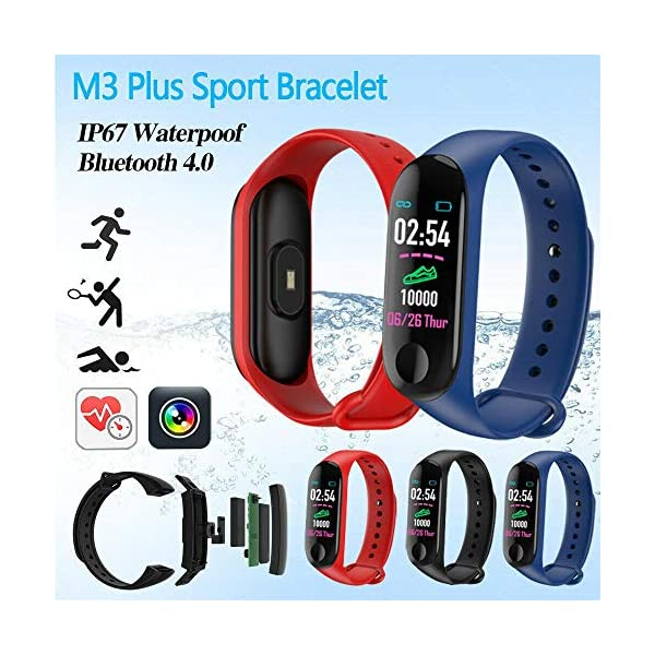 Smartwatch M3 Plus Heart Rate Fitness Tracker SmartBand OLED Smart Wrist Sports Pulsera Pantalla Colorida 1