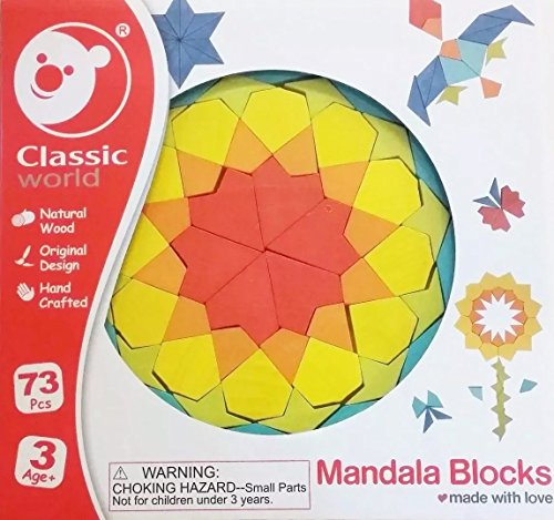 a Holz Bausteine Mandalas für Kinder Bauklötze (Kinder Holz Bausteine)