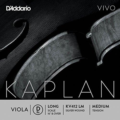 D'Addario KV412-LM Kaplan Vivo Viola D Saite (Long Scale, Medium Tension)